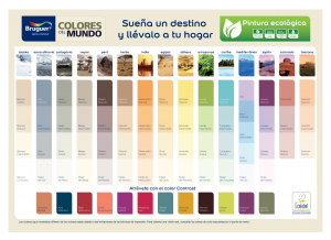 carta de colores pintura